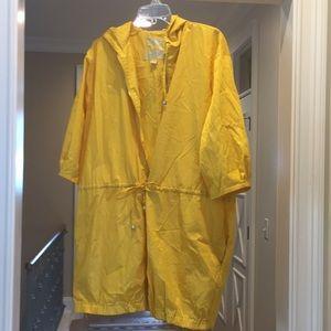 Michael Kors yellow rain slicker (bw)